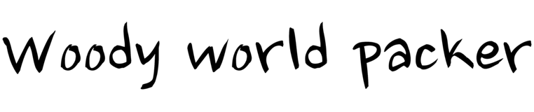 Woody World Packer - Spread out your wings, Travel the World, Free as a Bird