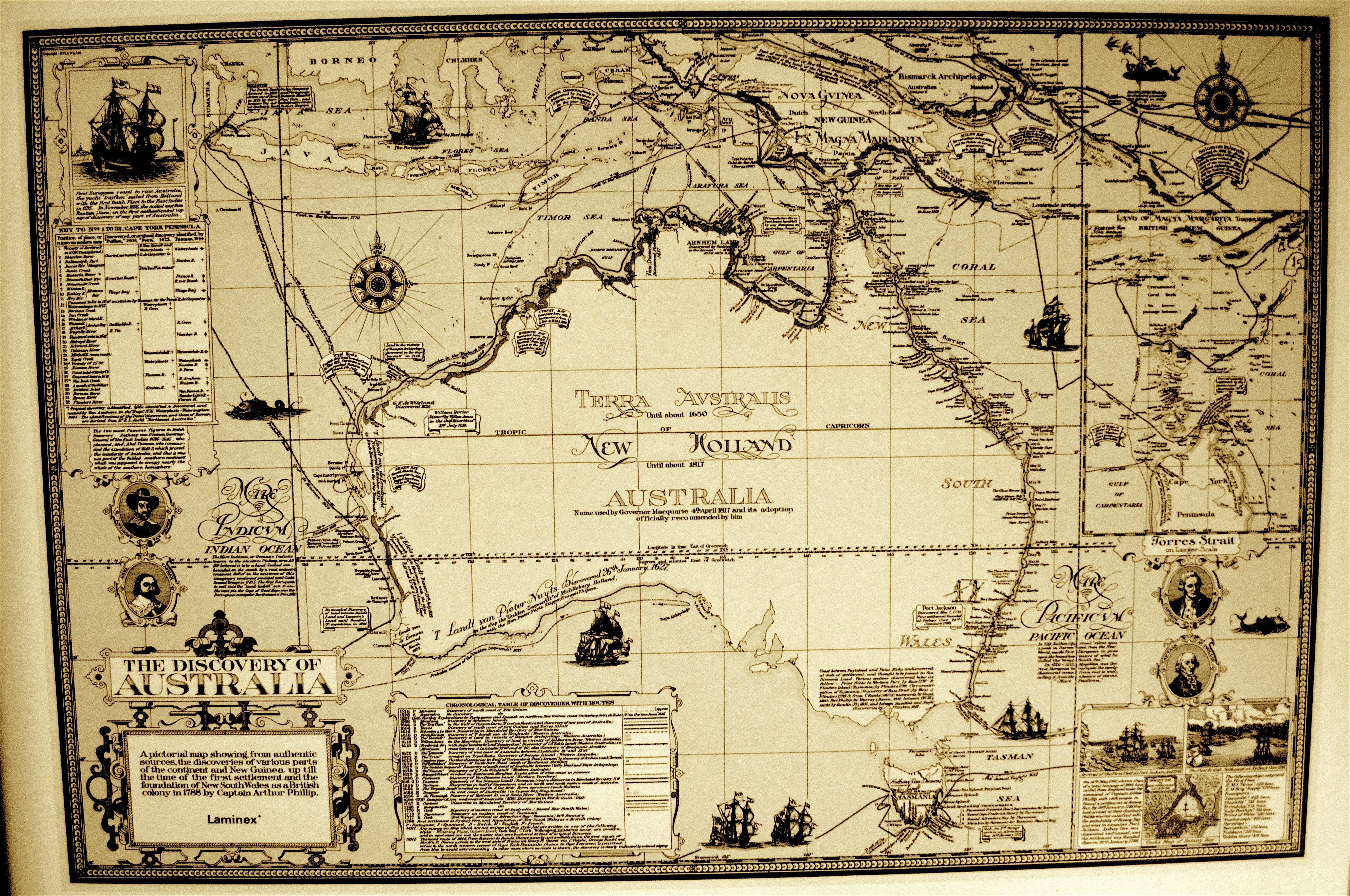 First Map Of Australia.Old Map Of Australia Woody World Packer